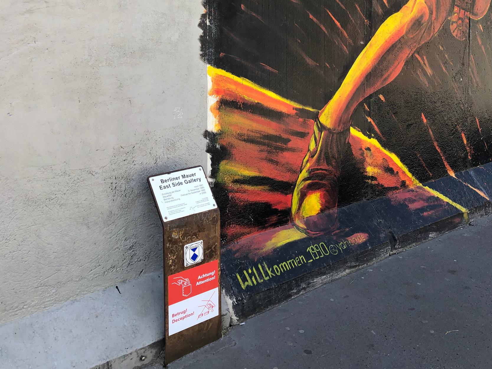 Eastside Gallery Denkmaltafel Aufkleber