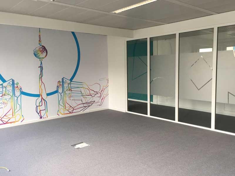 Büro Wand tapete und glasdekor