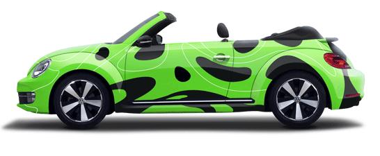 Fahrzeugbeschriftung Autofolien