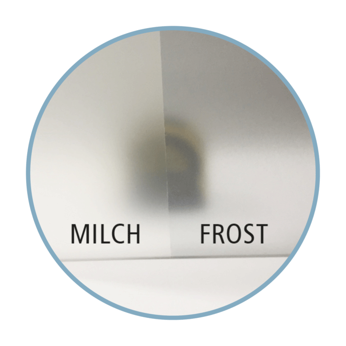 Glasdekorfolie Milchfolie