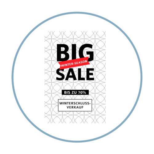 Big Sale Aufkleber Plakat für Abverkauf