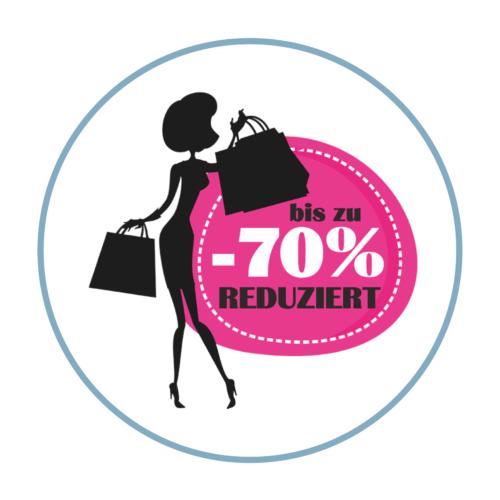 Shopping Sale Aufkleber Rabatt