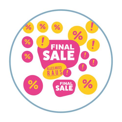 Final Sale Aufkleber