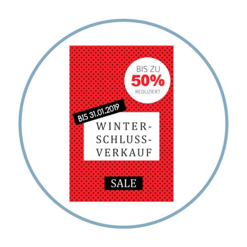 Winterschlussverkauf WSV Plakat Aufkleber für Ihren Schluss- oder Ausverkauf