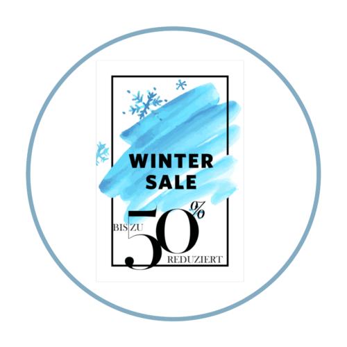 Winter Sale Aufkleber Plakat