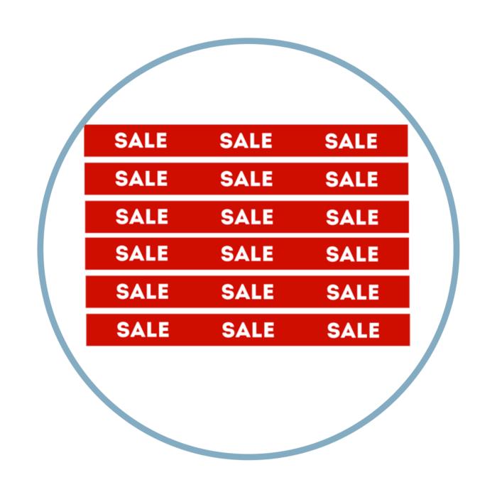 "Banderole 6 lm ""Sale"""