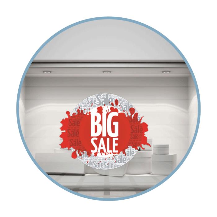 Big Sale Aufkleber für Schaufenster