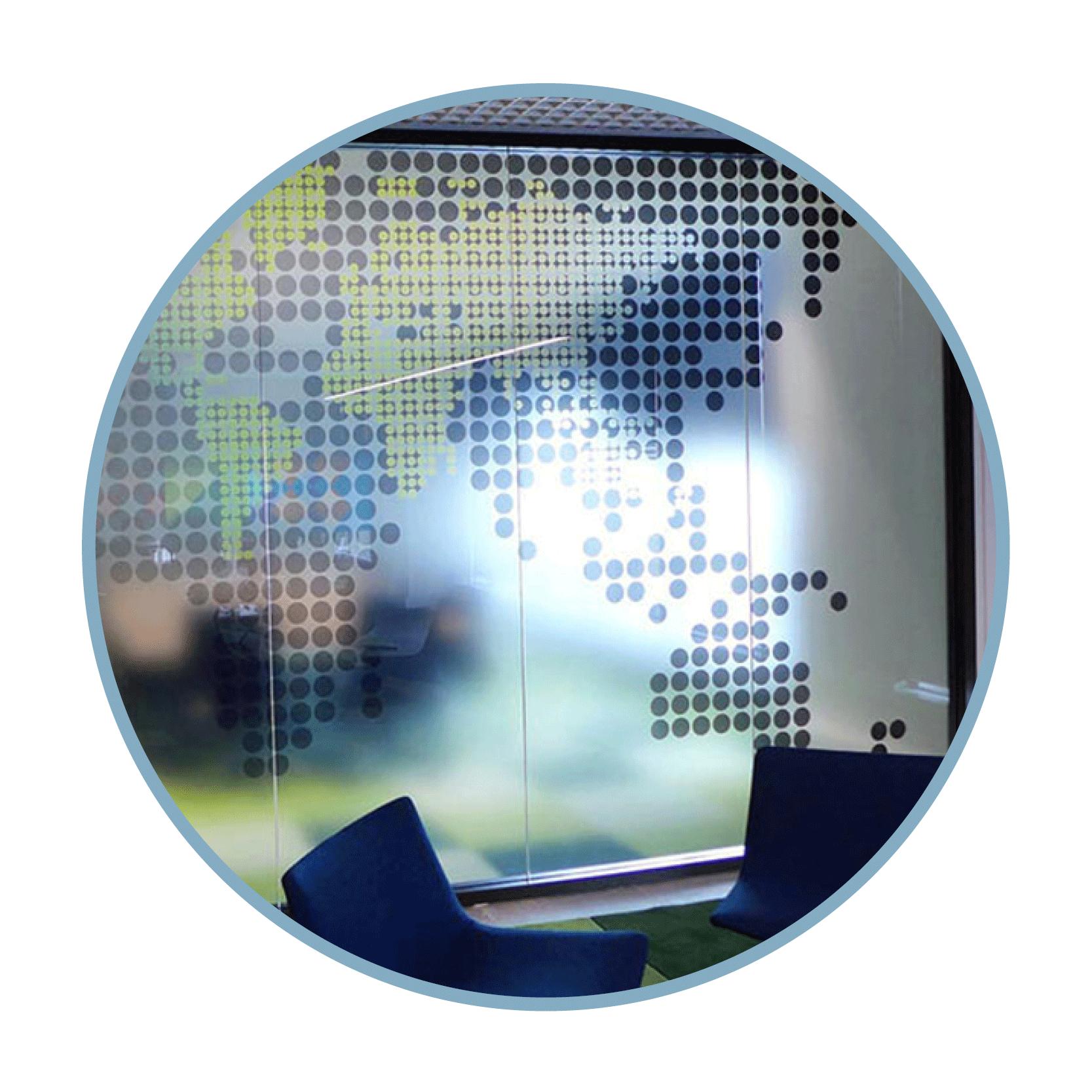 Glasdekor bedruckt