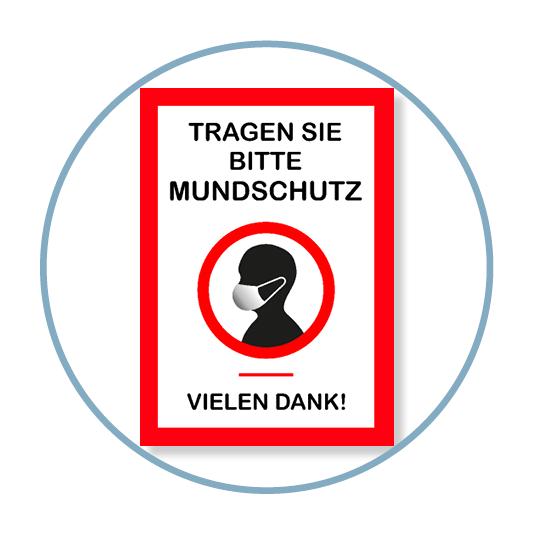 """Poster Aufkleber """"Tragen Sie bitte Mundschutz"""""""