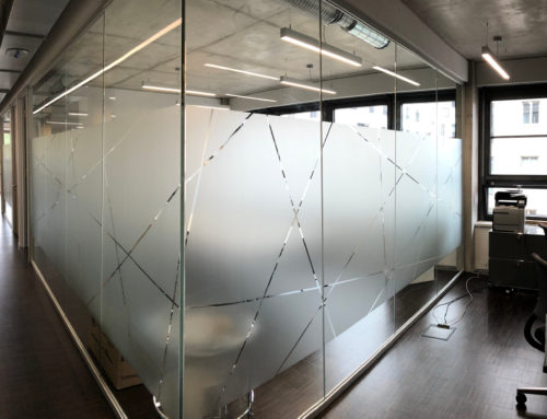 Glasdekor Sichtschutz für Büroglaswände und -türen