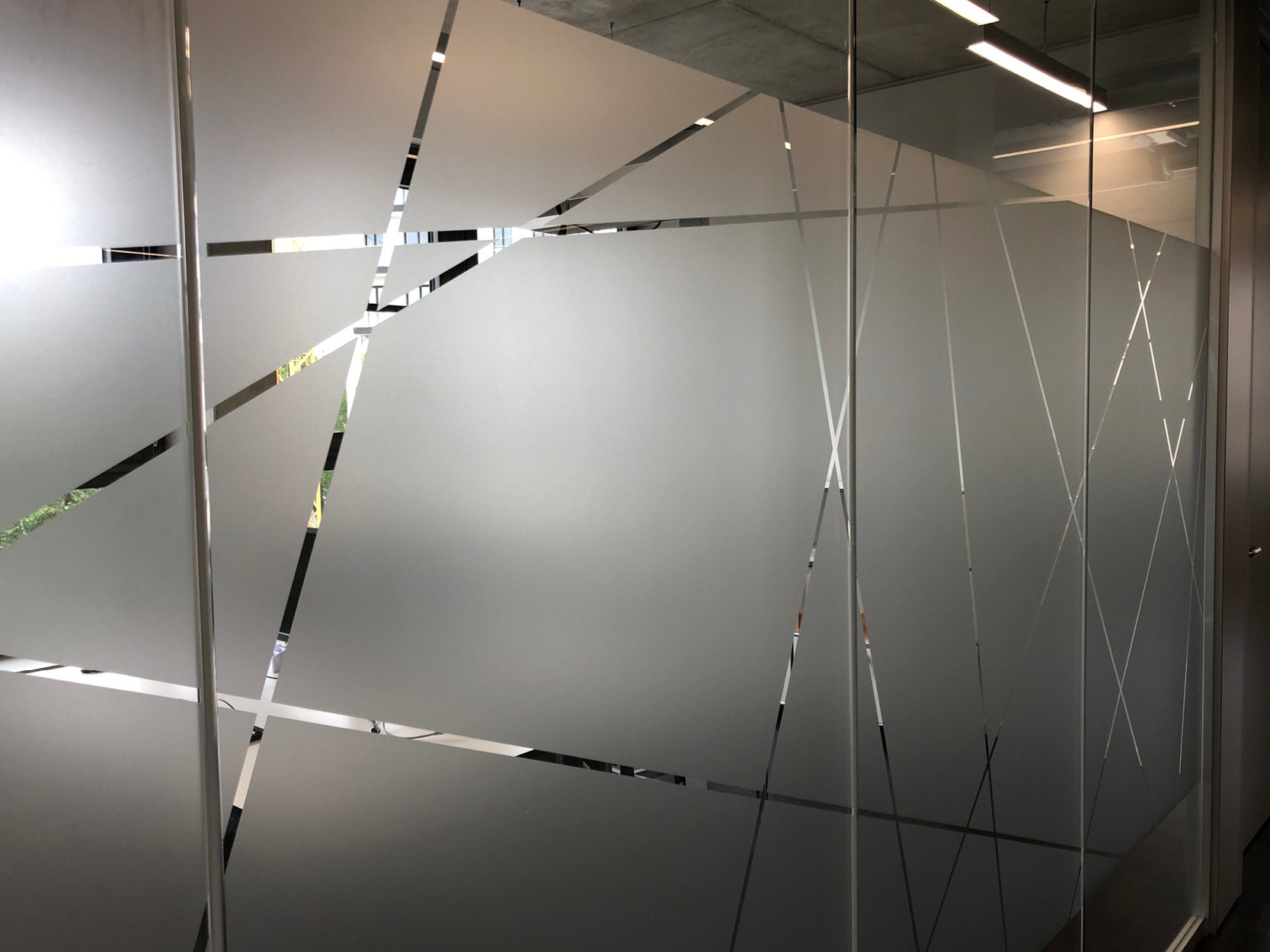 Glaswände Glasdekor Büro
